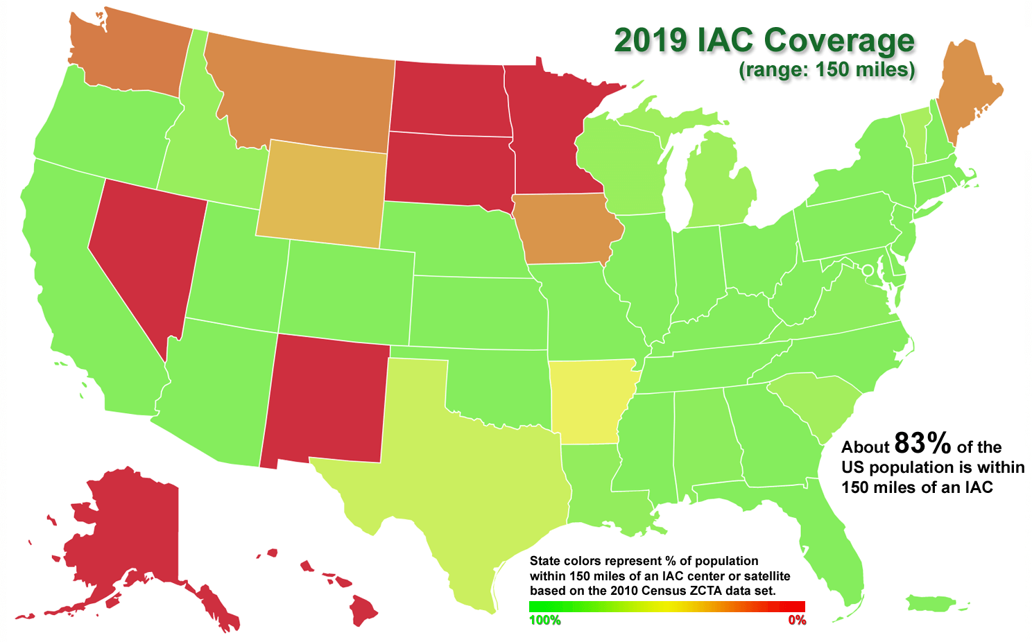 IAC Center Coverage Map